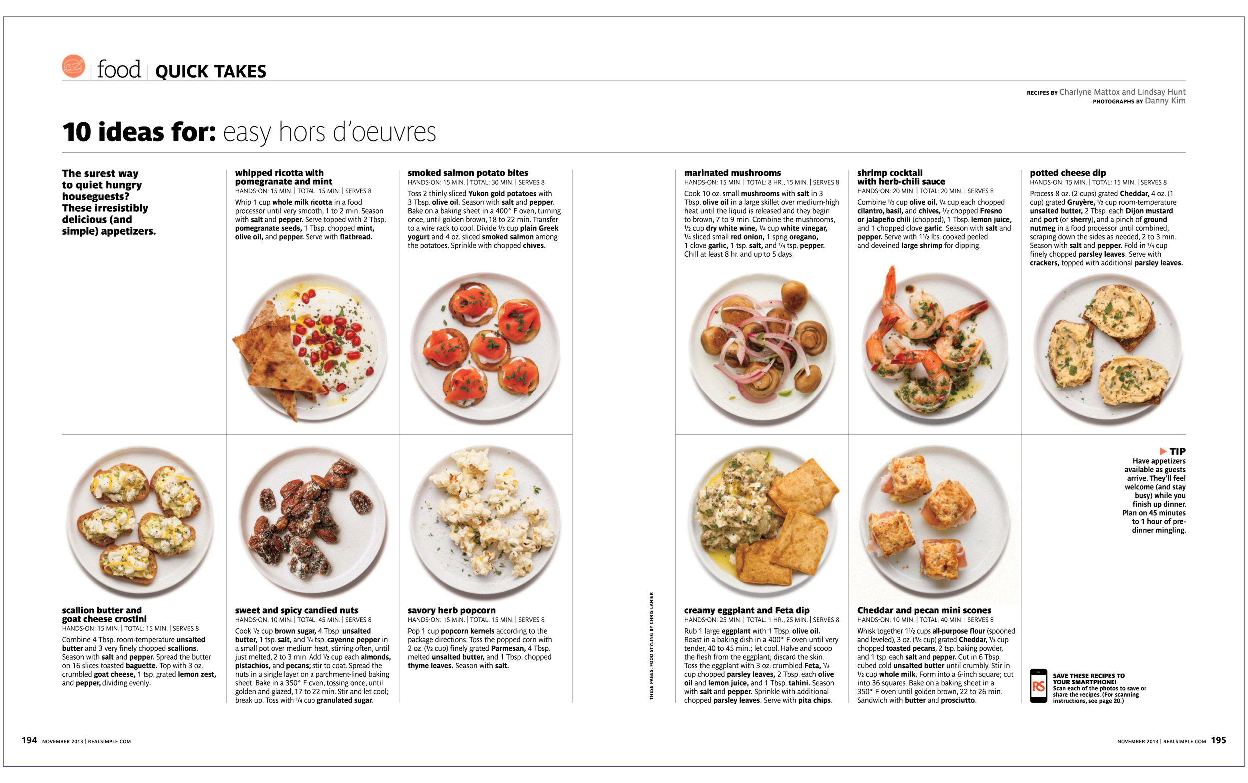 10 Ideas For: Easy Hors D'oeuvres  Real Simple