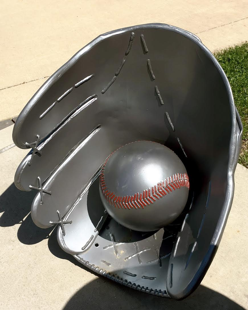 glove and ball stitching detail