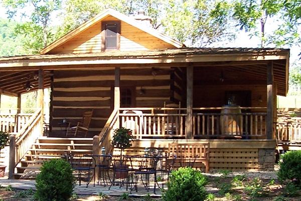 The Historic Chestnut Log Cabin at Delfosse Vineyard & Winery