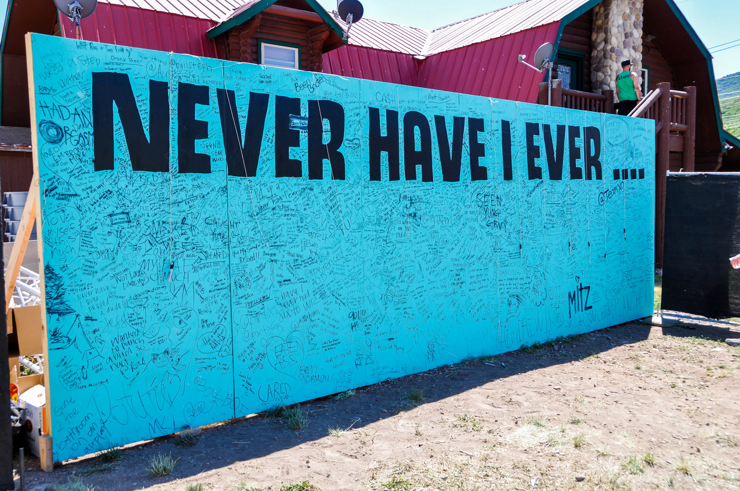 'Never Have I Ever' Art Installation