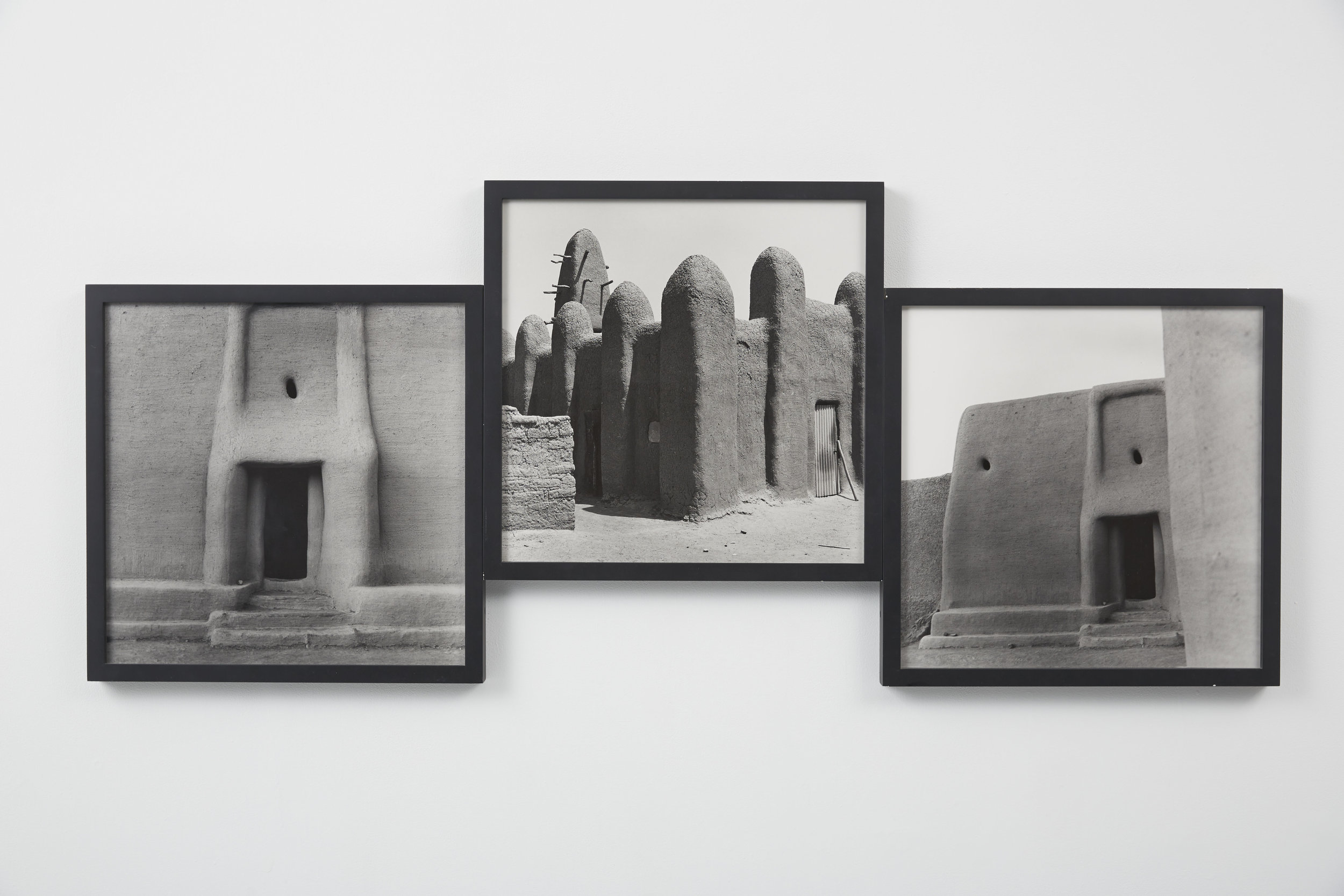 Carrie Mae Weems:  The Shape of Things ,   from the series  Africa , 1993; photogravure, triptych; 32 x 62 in.; BAMPFA, gift of Sandra J. Springs in constant memory of Marian C. Chapman.  ©  Carrie Mae Weems. Courtesy of the artist and Jack Shainman Gallery, New York.