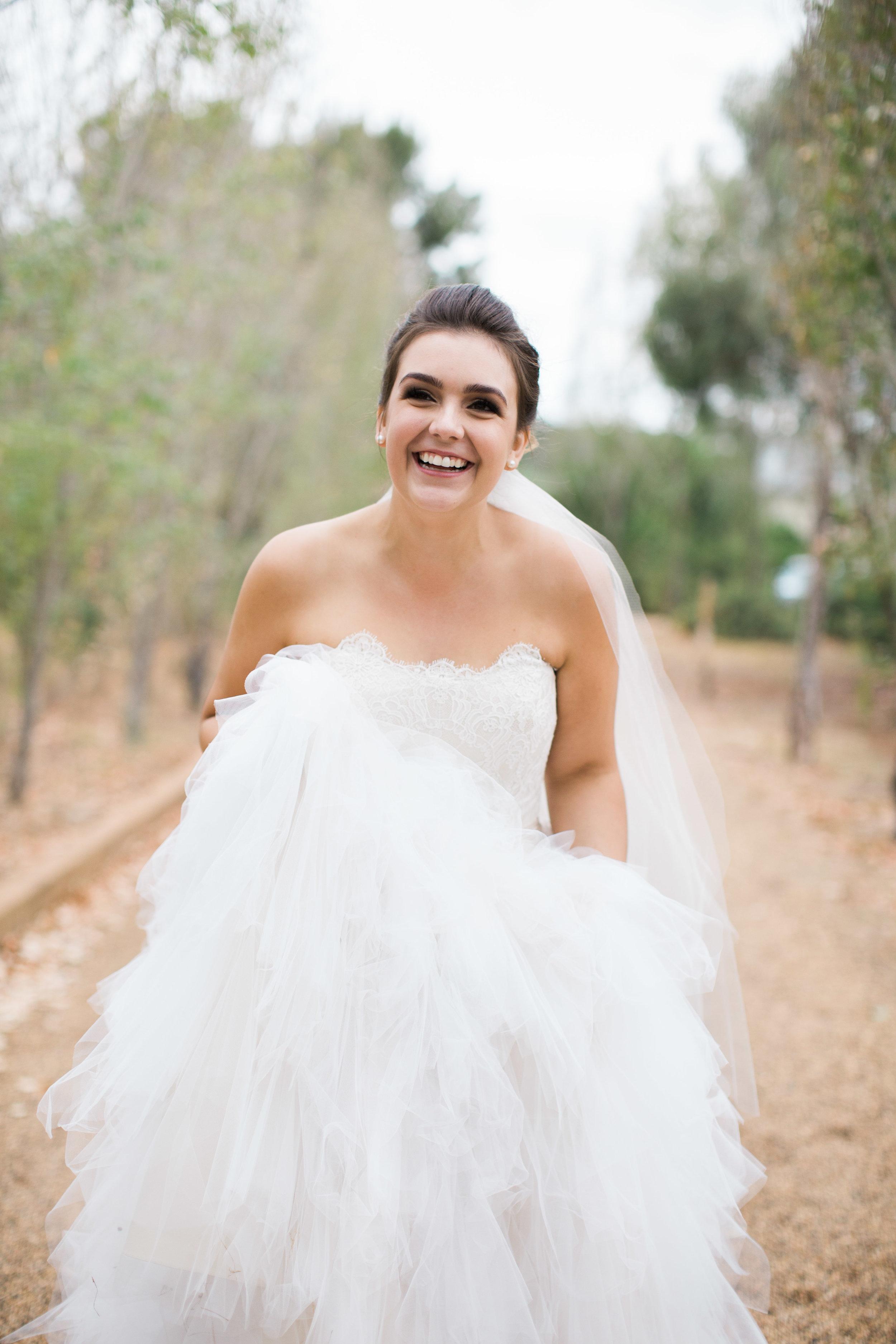 tulle bride