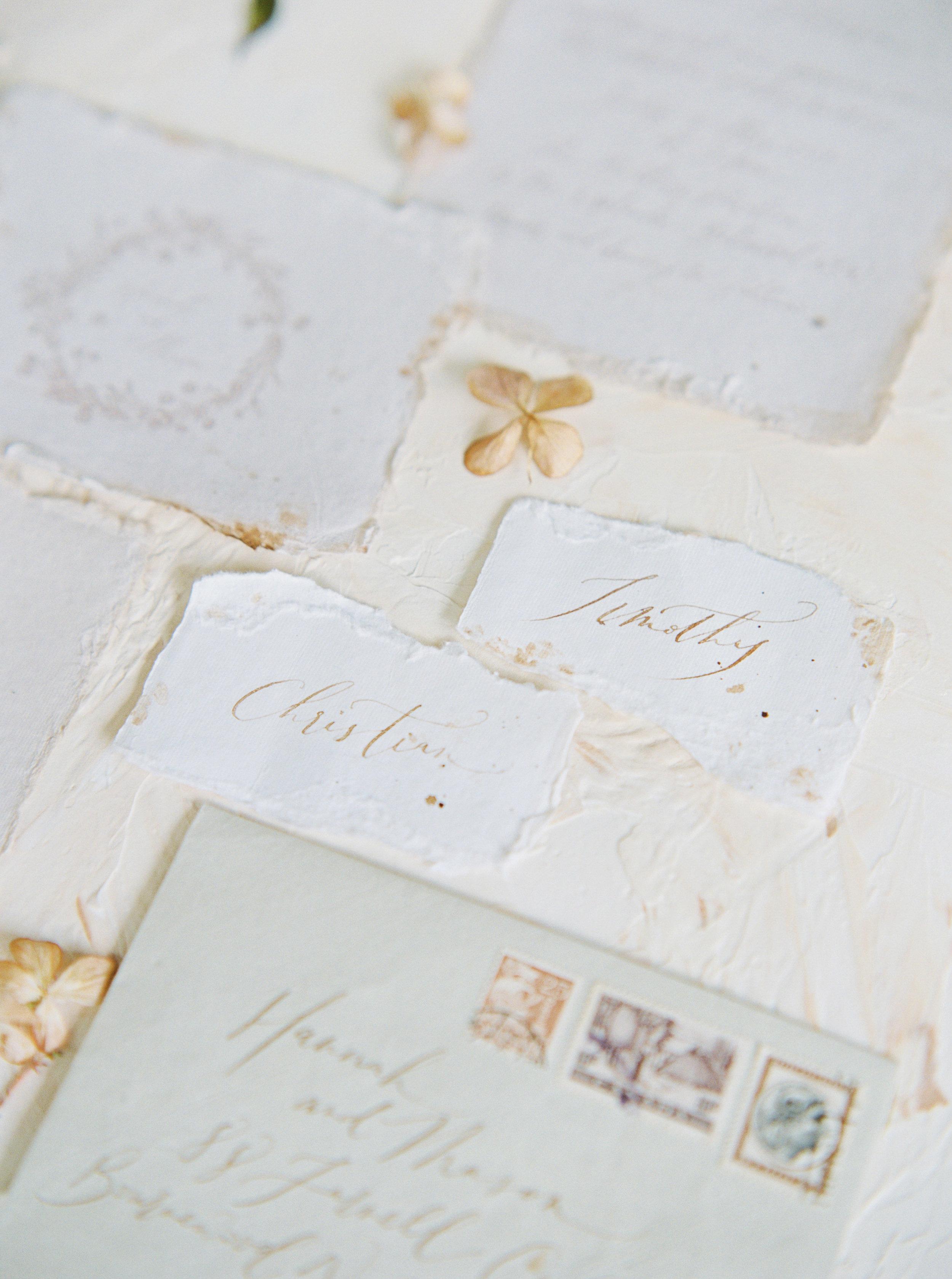 Copy of Handmade paper wedding invitation suit