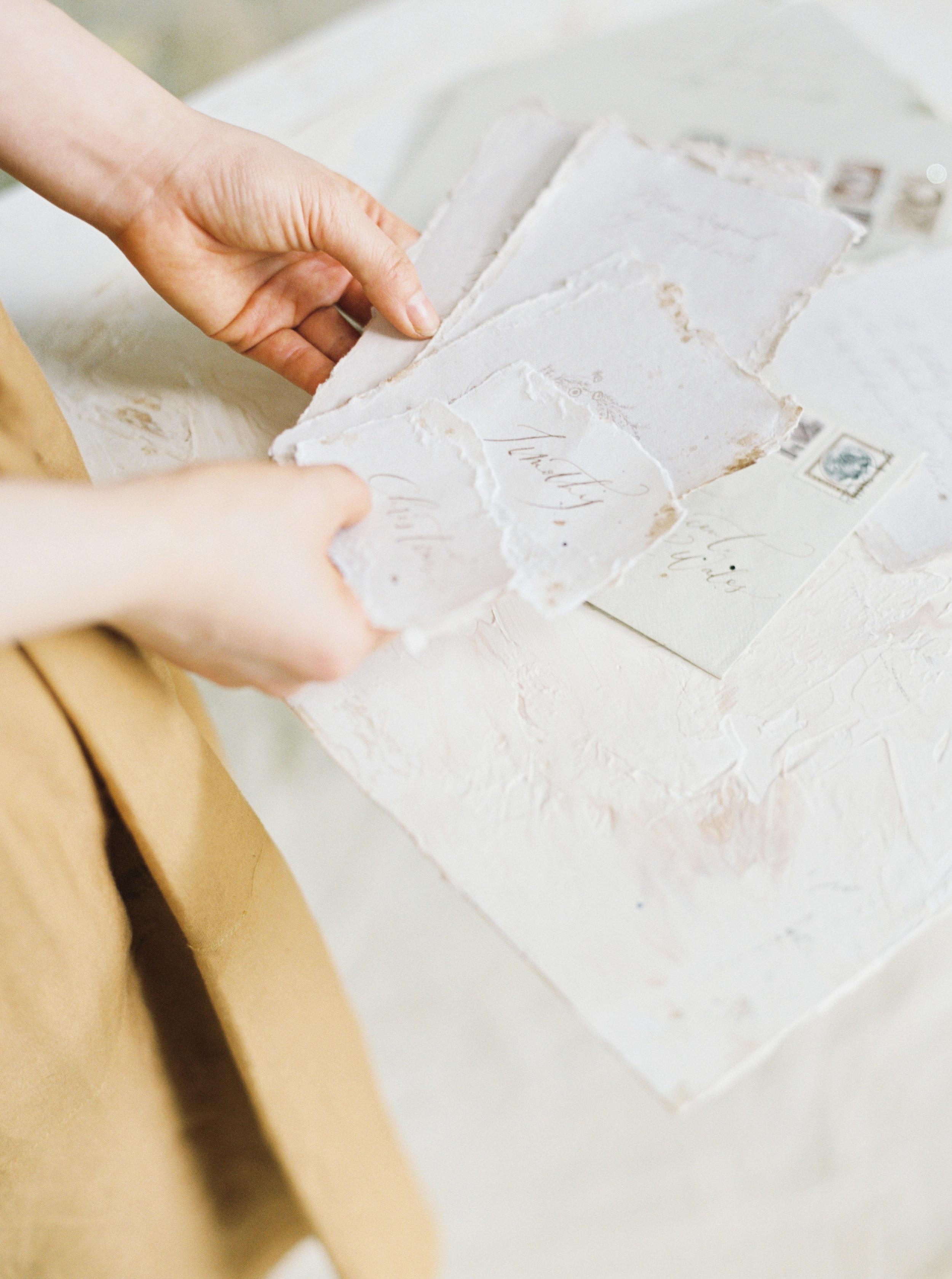 Copy of Wedding invitation suit on fine art handmade paper