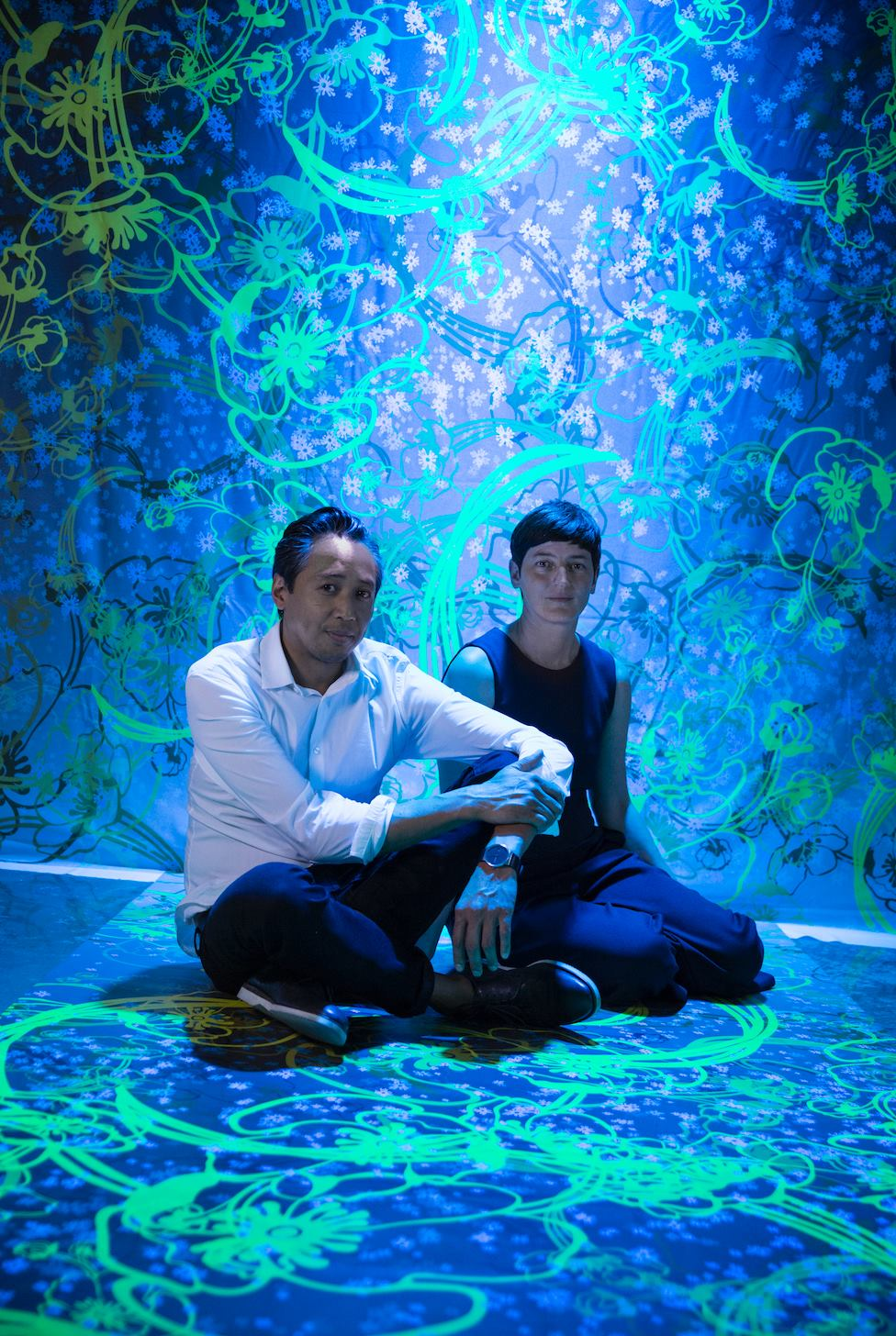 Image:  From Design Miami's Facebook page: Perrier-Jouët digital installation series