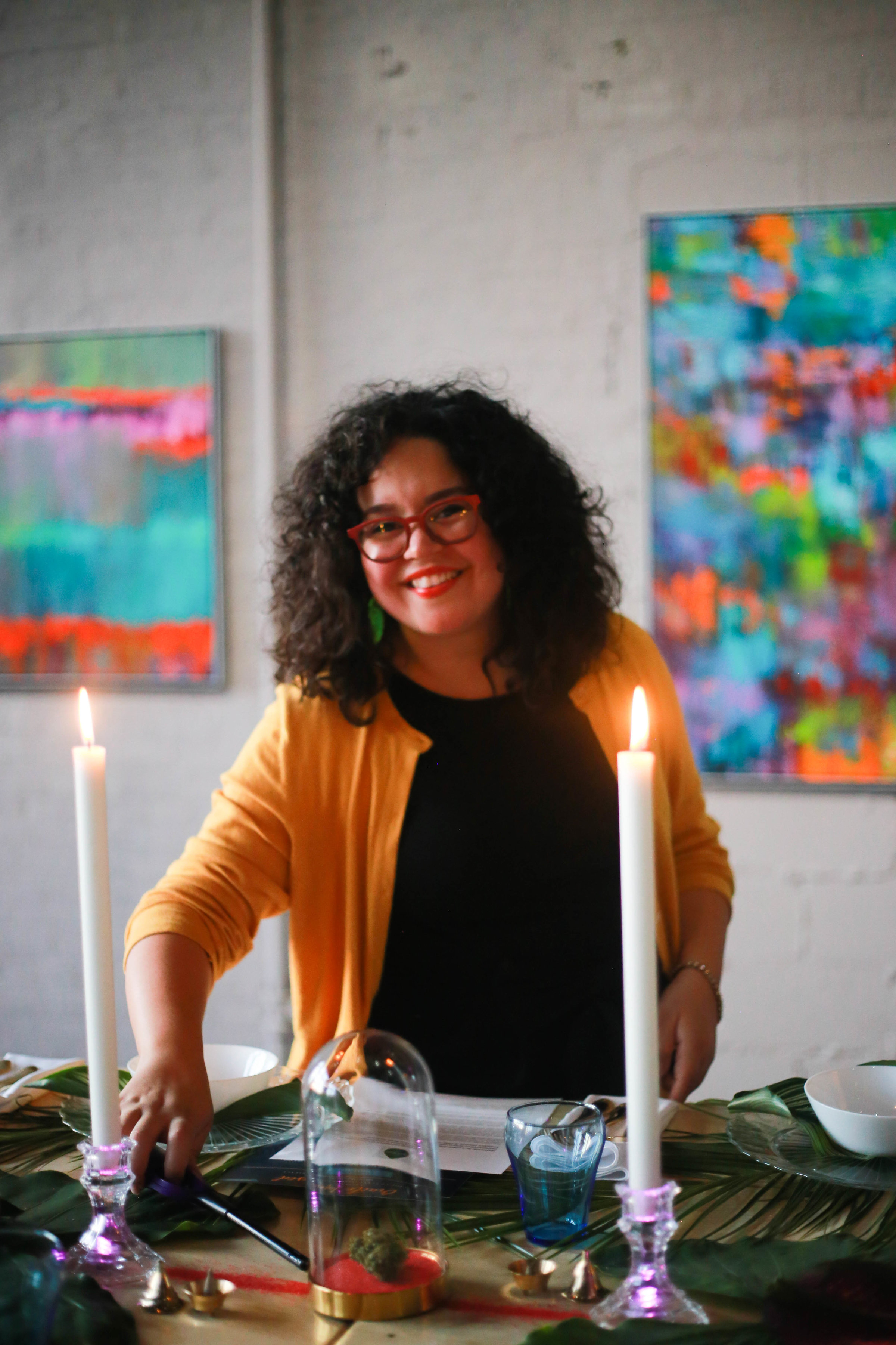 Michelle Ivette Gomez of Creative Unions Event Design. Photo by  Fluffy Pop Postcards   @fluffypoppostcards .