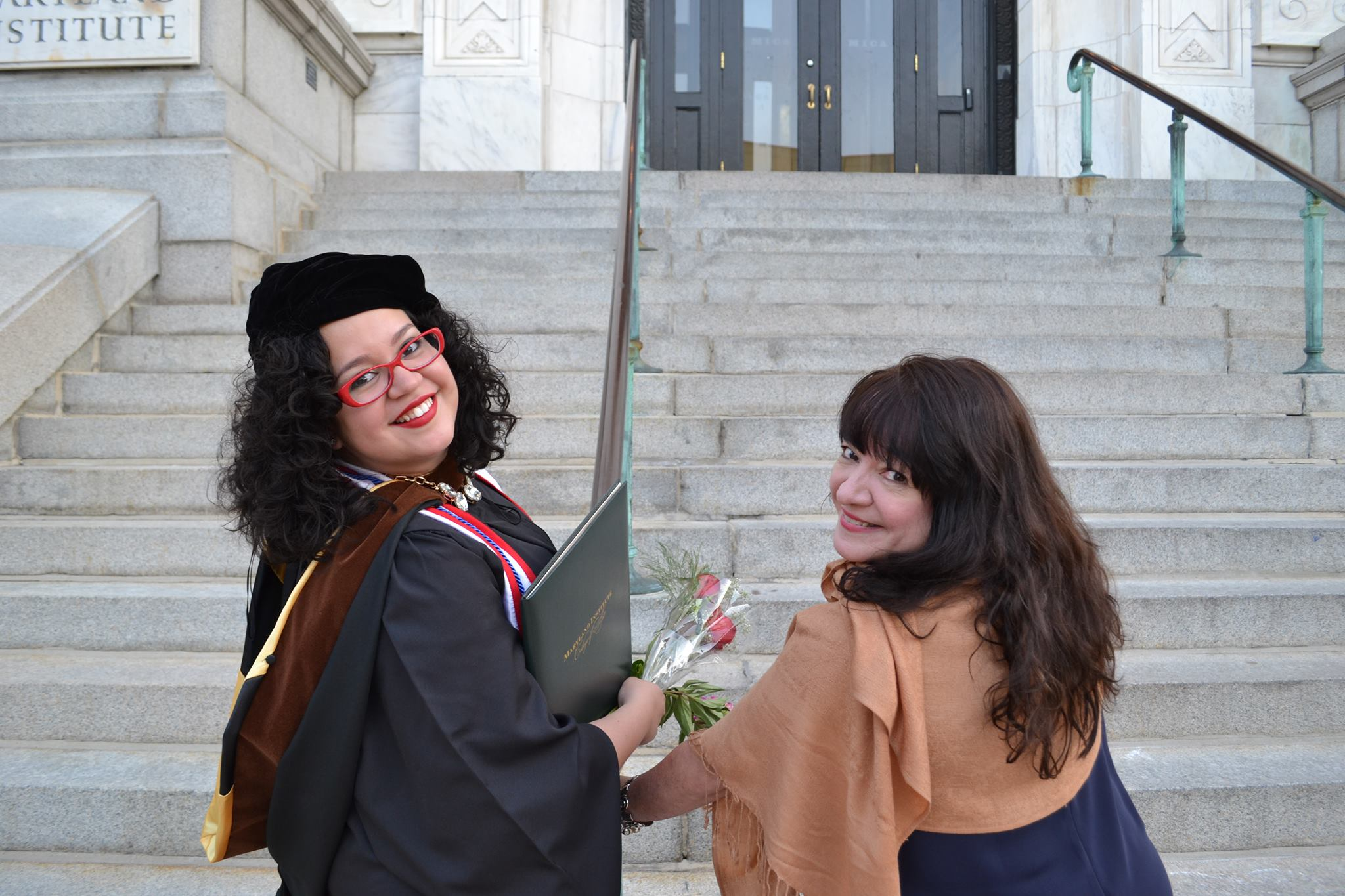 My mother and I at my MFA in Curatorial Practice Graduation at the Maryland Institute College of Art, 2014 in Baltimore, MD.
