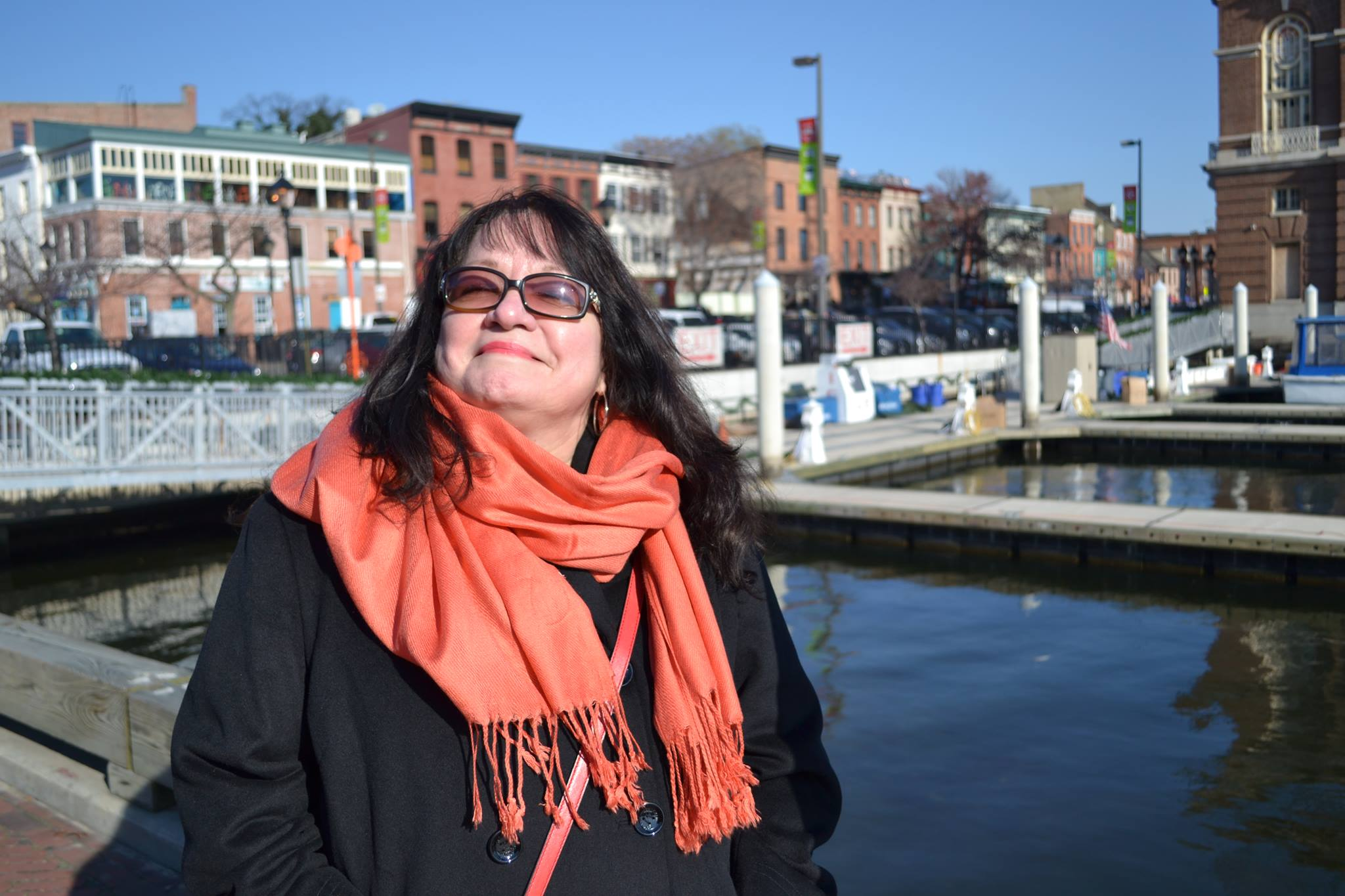 Mom visiting me in Baltimore, MD when I used to live and work there.