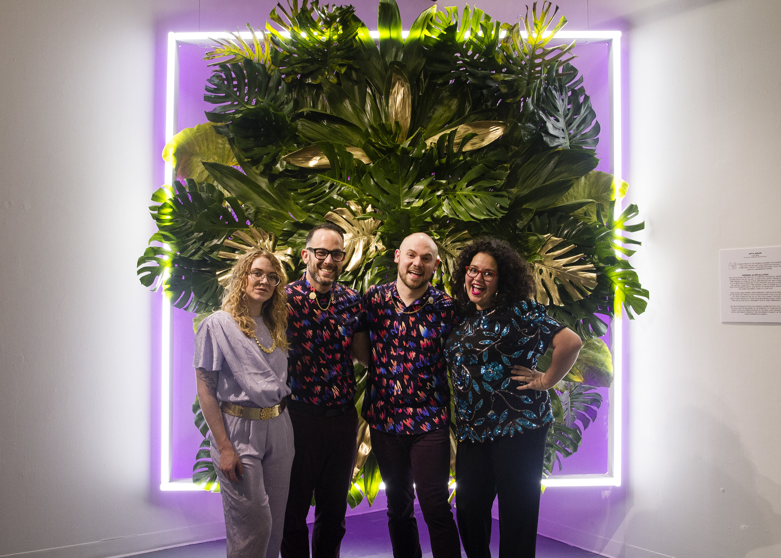 The #MiamiisNiceteam: Carlyn Thomas of Terrault Gallery, Zachary Z. Handler, Nick Horan, and yours truly. Photo by  Tiffany Jones .