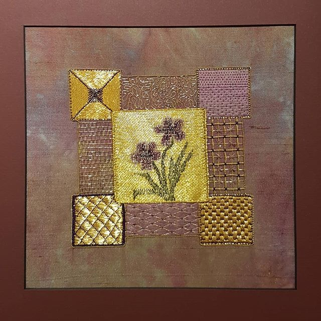 Embroidery, neede felting, surface design and art quilting were part of our show and tell, some pieces being works in progress. 1-4. Deb Zibrik, 5. Monica Brammer, 6. Judy Villett 7-8. Susan Lum 9. Katie Stein Sather @judyvillett @satherkatiestein  #fibreart #goldwork #needlefelting #artquilts #embroidery #surfacedesign #screenprints #textiledesign