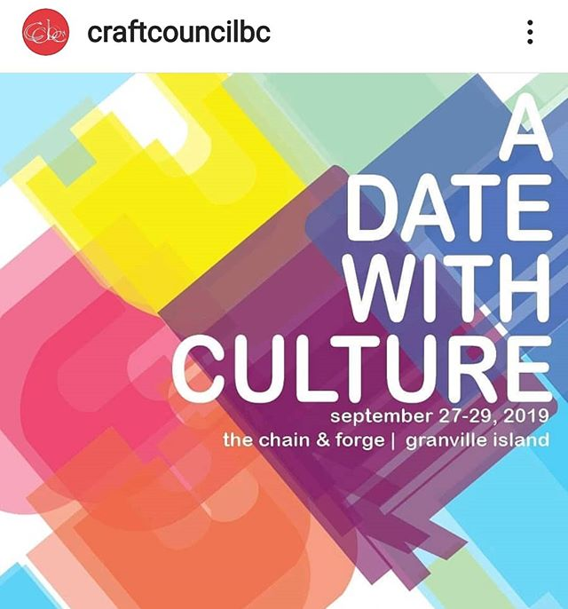 Local artists demonstrating their craft. There will be Fibreartists! #adatewithculture #granvilleisland #localartists #freeartexhibit check @craftcouncilbc for more info.