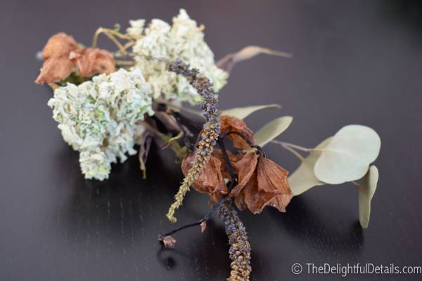 Dried stems from my bridal bouquet