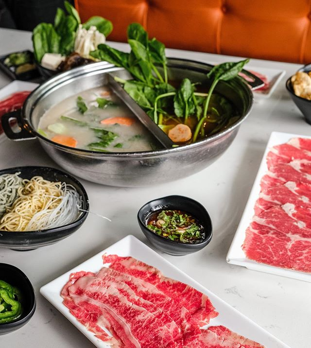 Pick your Broth, make your sauce, choose your meat & select your veggies! At Broth Shabu, everything is customizable! 🍲✨