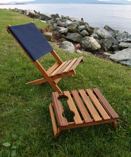 handmade wood and canvas jackass chair and low drink-holder side table ottoman.png