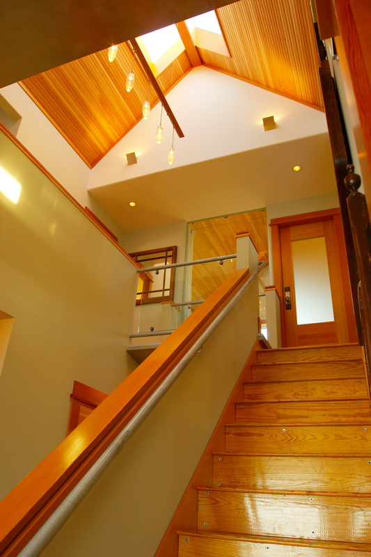 Point Roberts house stairs and interior.jpg