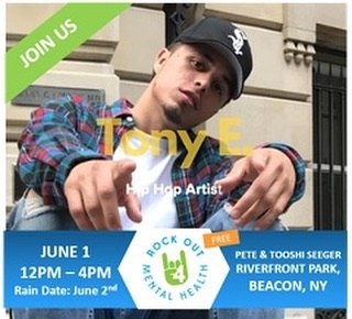 Join us for the this free event to see this artist and more as we seek to end the silence and take the first step toward a better tomorrow for all!  www.rockout4mentalhealth.com #iambeacon#hudsonvalley #rockout4mentalhealth