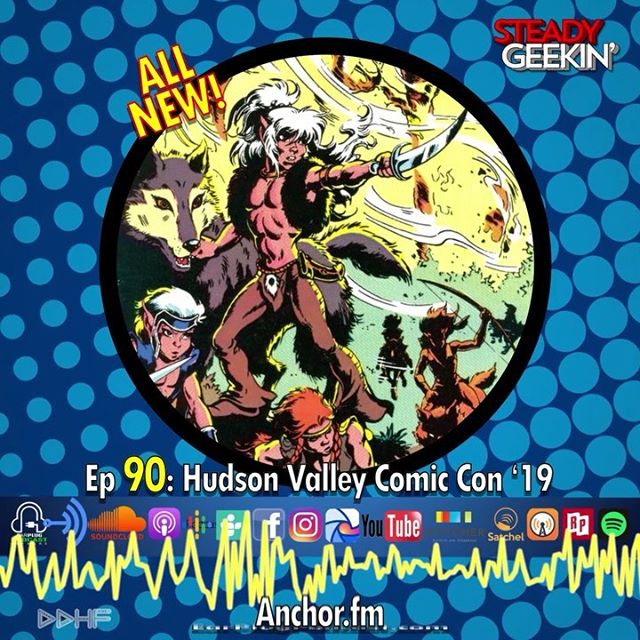 This week we bring you coverage from @hudsonvalleycomiccon 2019!  We're joined by DW @earplugpodcast and Lewis @theangrygeeks for panel interviews and geeky fun with special guests @ron_marz (#greenlantern , #marvelvsdc ), @joe.st.pierre (#spiderman , #newzodiax ), @jondavey007 (#doctorwho , #torchwood ), Jean and Colin @reality_bomb_comicast and Josh and Conner @batyardproductions ! 💥💥💥 Available on @earplugpodcast (LINK IN BIO) @soundcloud @anchor.fm and wherever you get your podcast fix! SUBSCRIBE RATE and REVIEW! 🔥🔥🔥 Shoutouts to  @goguerillafilm @batmanbeyondpodcast @dccollecticast  @eachsoldseparatelypodcast @nufd_podcast