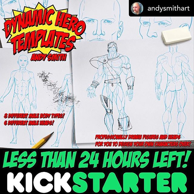 KICKSTARTER LINK IN BIO 💥💥💥 Posted @withrepost • @andysmithart It's the final countdown!!! Don't miss out and let's get this campaign funded! 💥💥💥 #comicbookartist #andysmith #marvel #dc #ominouspress #geeks #steadygeekin #earplugpodcast