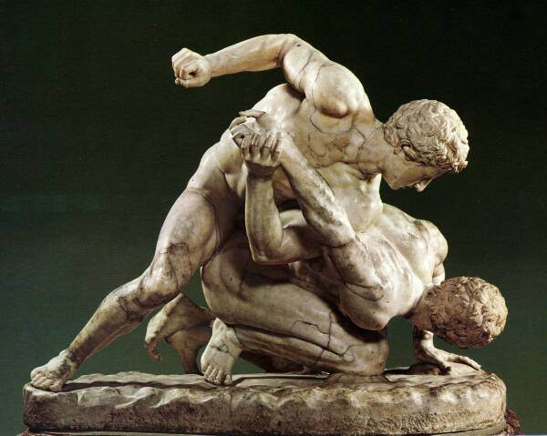 Artwork depicting Greek Pankration.