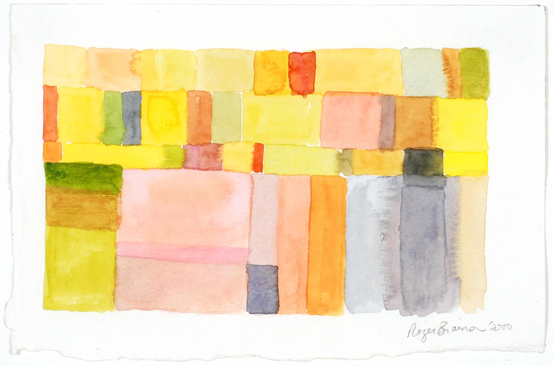"2000. Yellow squares 4.25 x 6"""