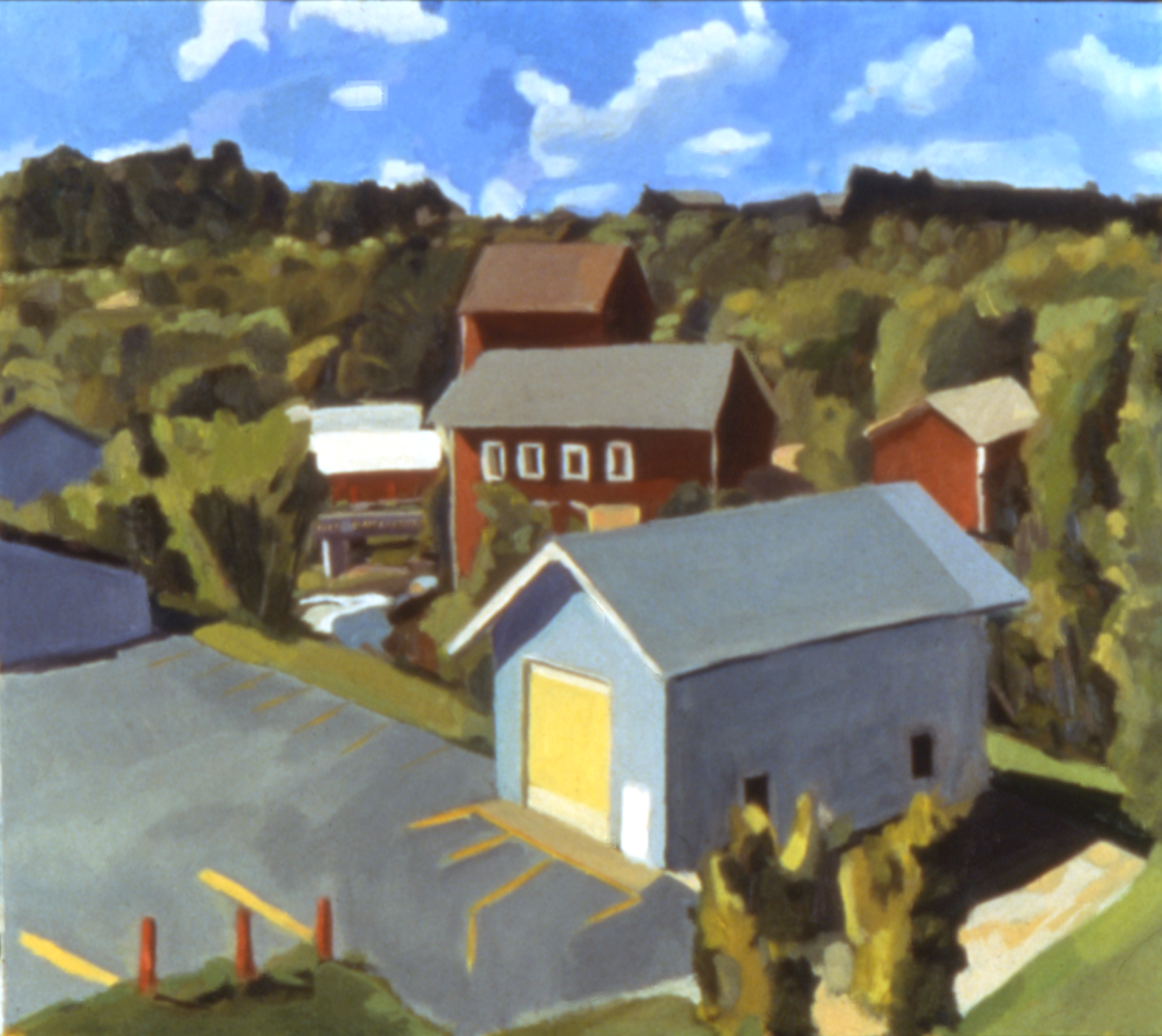 1990. Vermont Studio Center. Oil. 18 x 24""