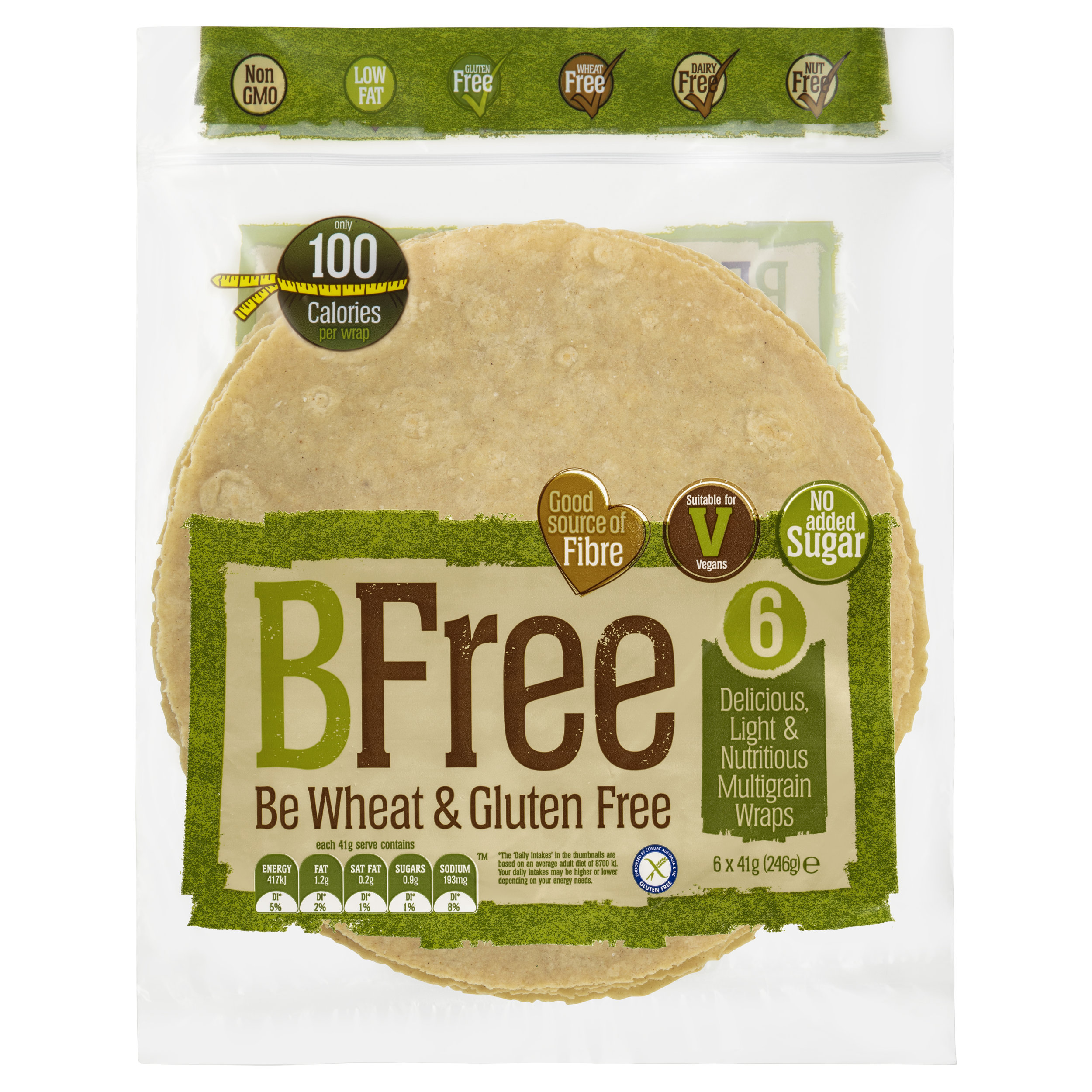BFree 6 Multigrain Wraps