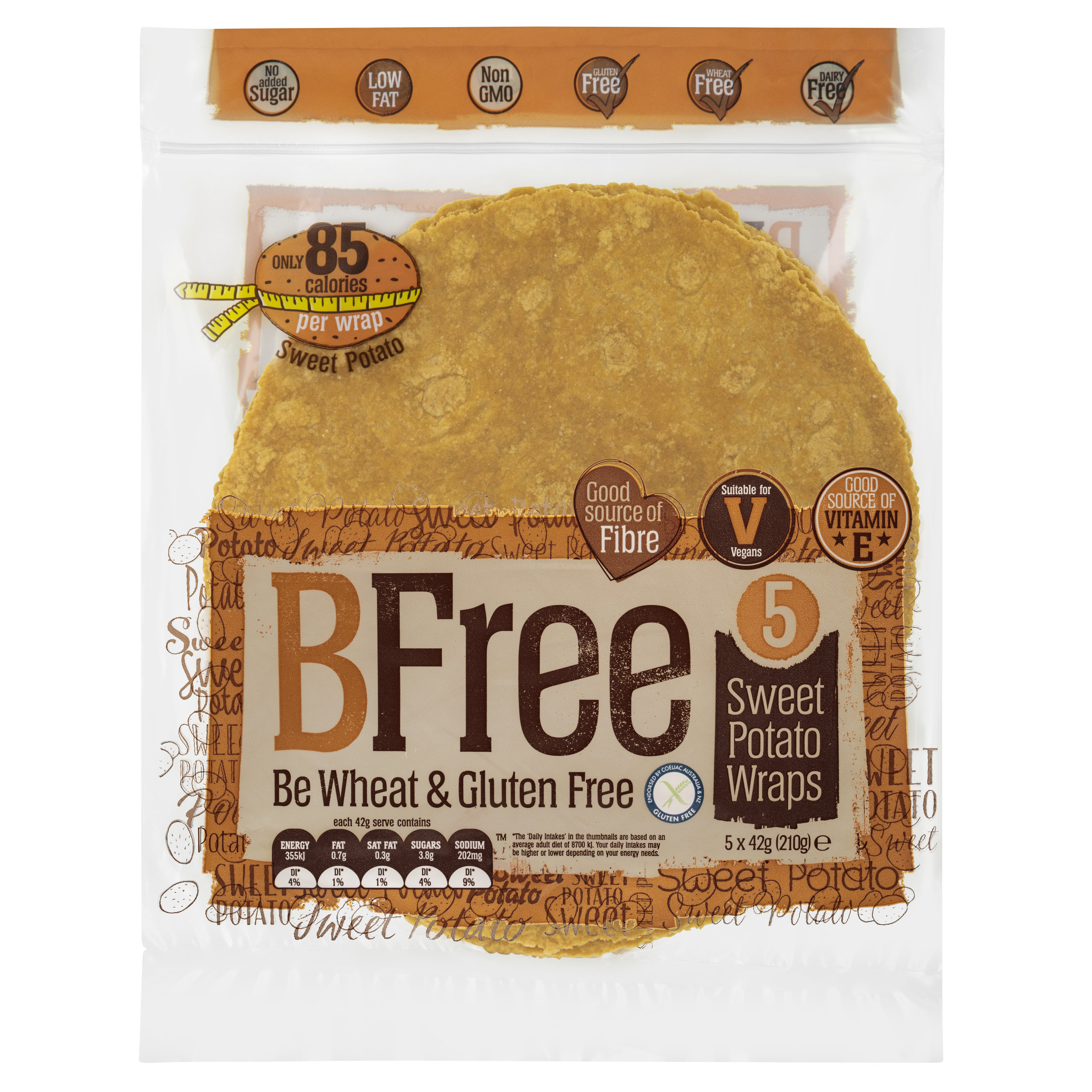 BFree 5 Sweet Potato Wraps