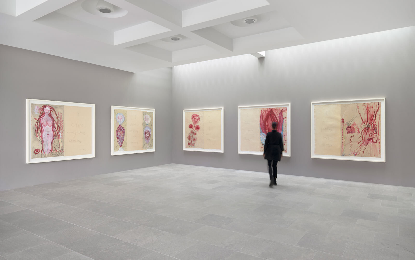 Louise Bourgeois  I Give Everything Away , 2010 etching and mixed media on paper, six panels