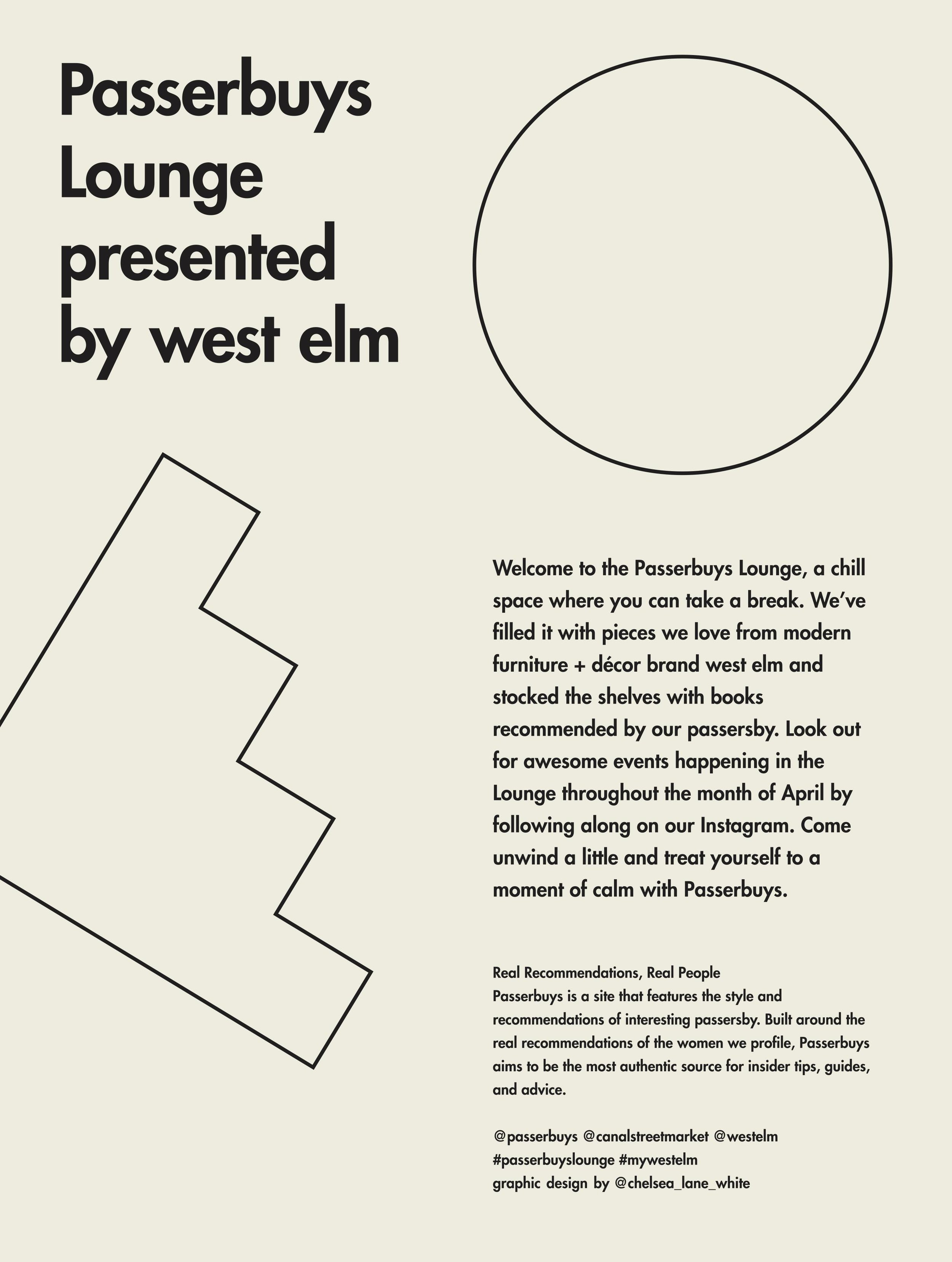 Passerbuys Lounge Presented by West Elm