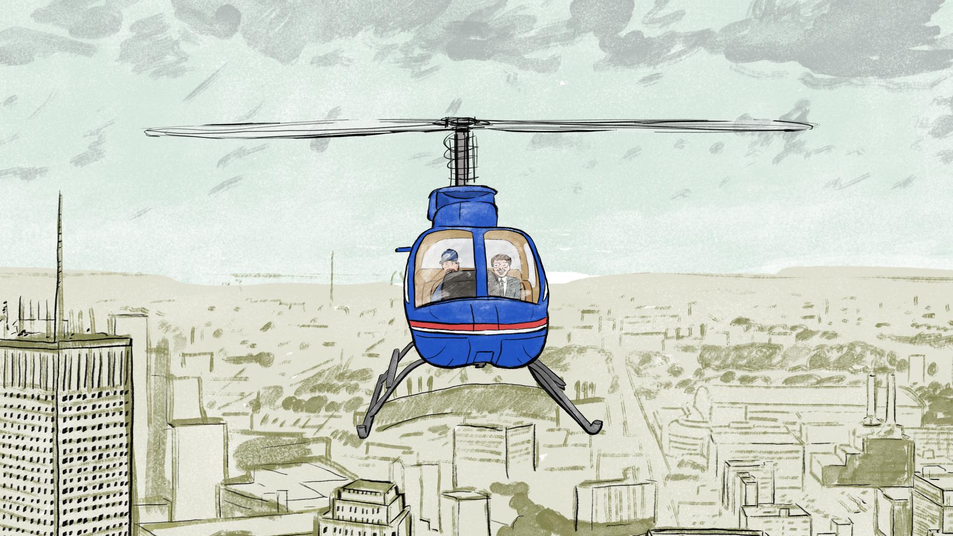Flying Over Detroit