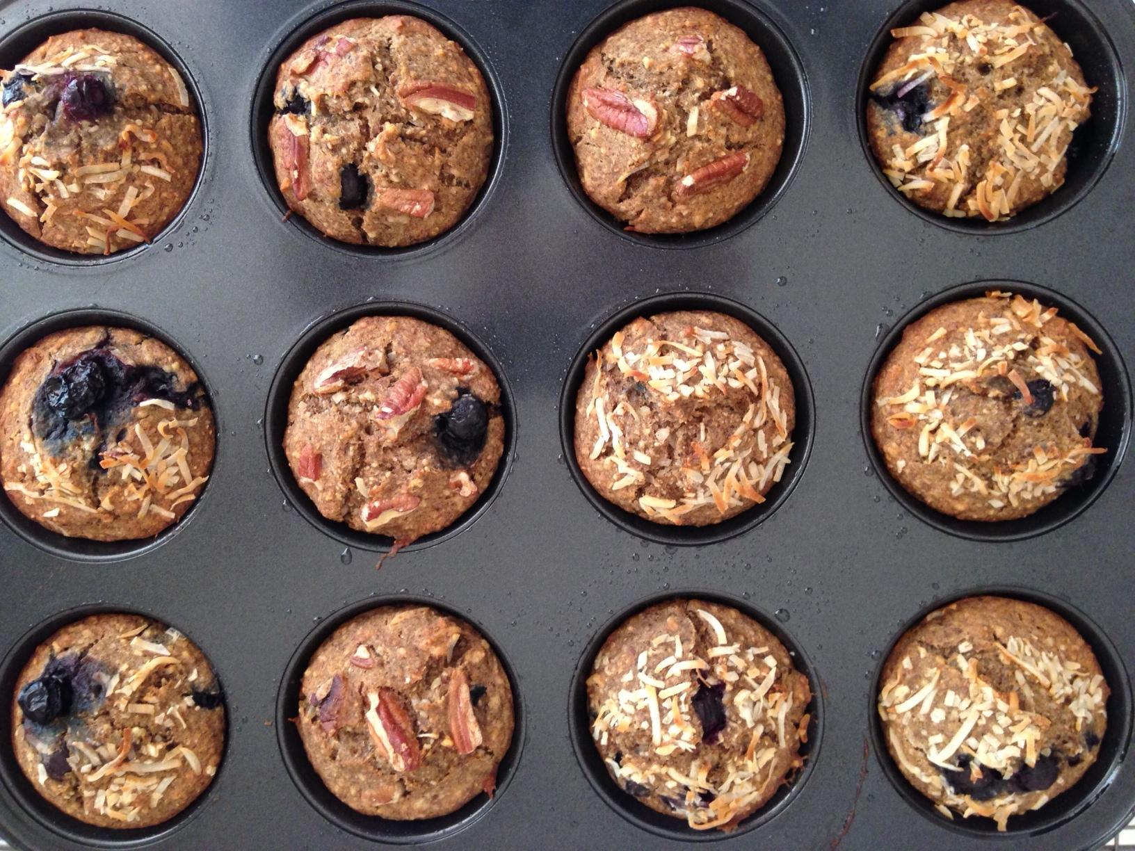 Banana + Blueberry Muffins Recipe