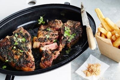Steak w seaweed butter by Colin Fassnidge