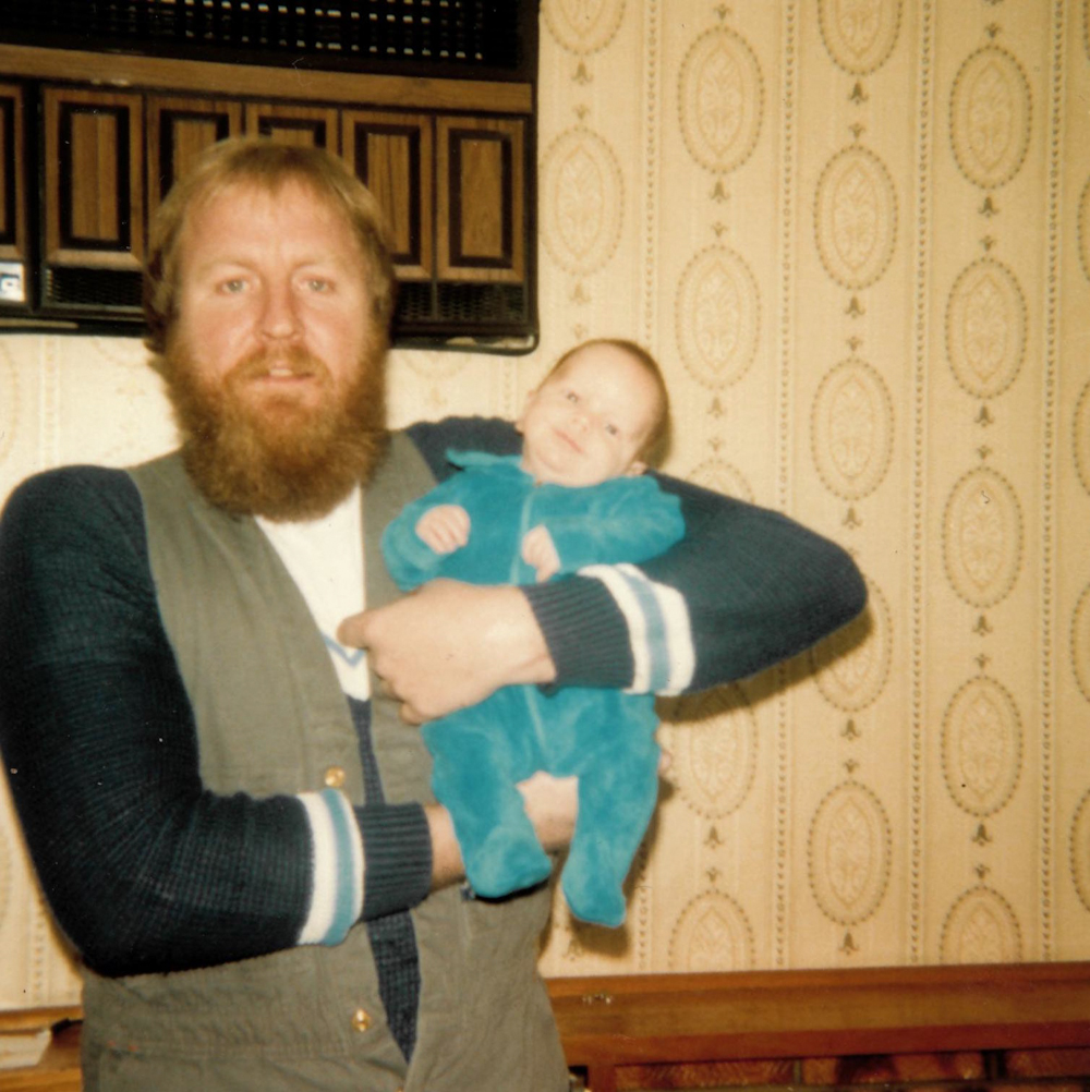 What a spiffy pair of overalls you've got there Dad, and I dare say, I am rocking that blue velvet jumpsuit.