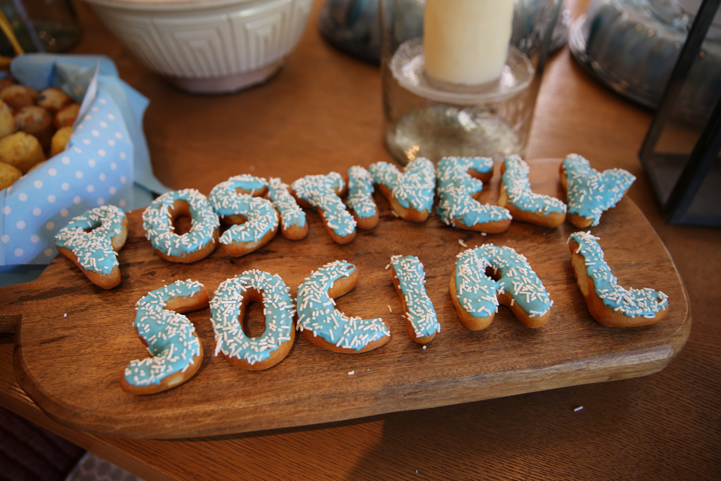 Thank you  California Donuts  for Helping us spell things out!