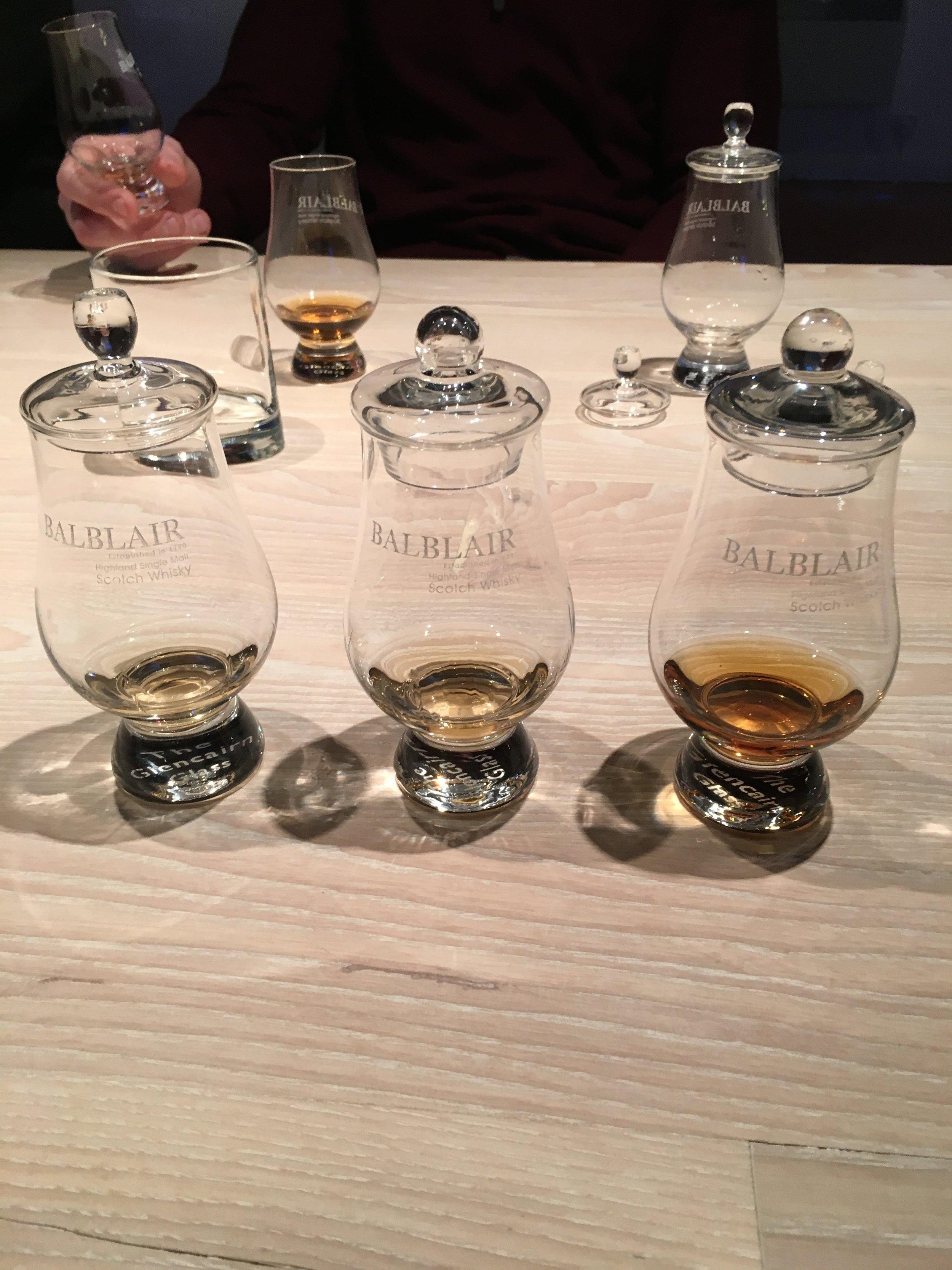 Tasting at Balblair Distillery 2017