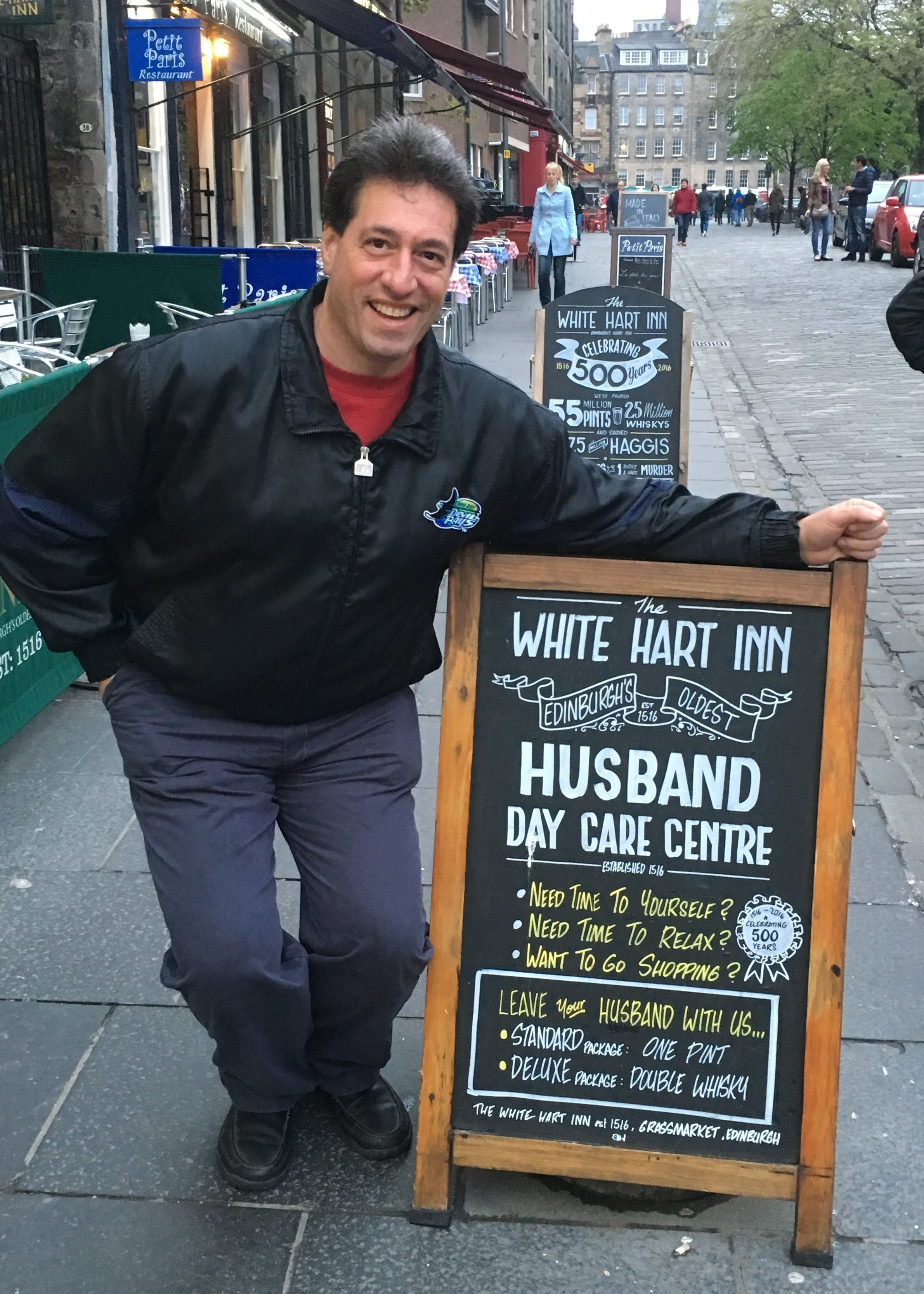 Husband Day Care in Grassmarket (Edinburgh) 2016