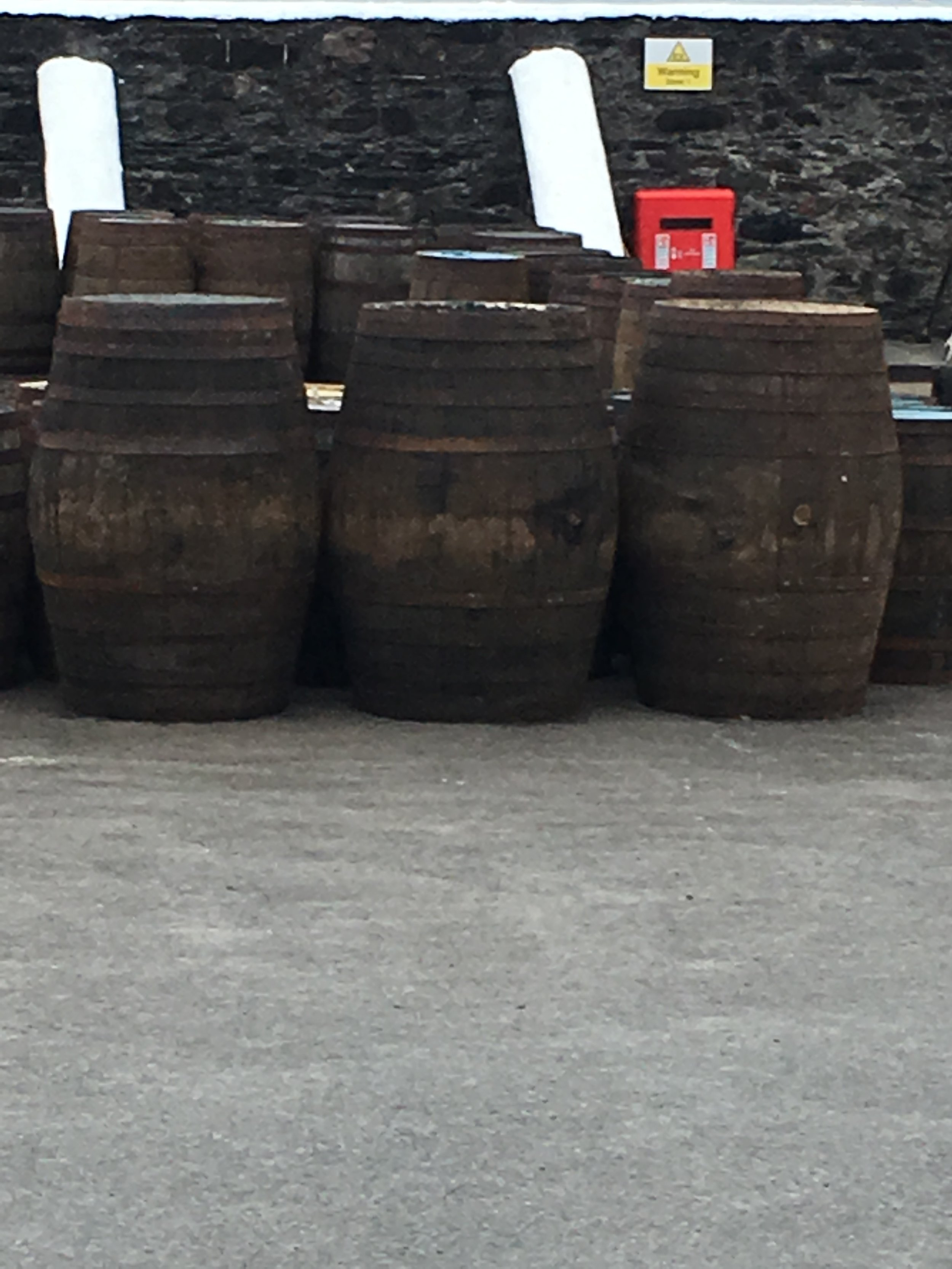 Casks at Ardbeg Distillery
