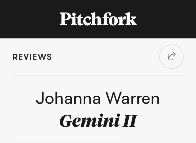 "Pitchfork Album Review: ""Gemini II"""