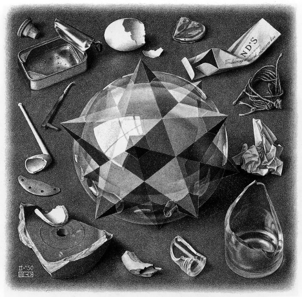 Contrast (Order and Chaos) by Escher