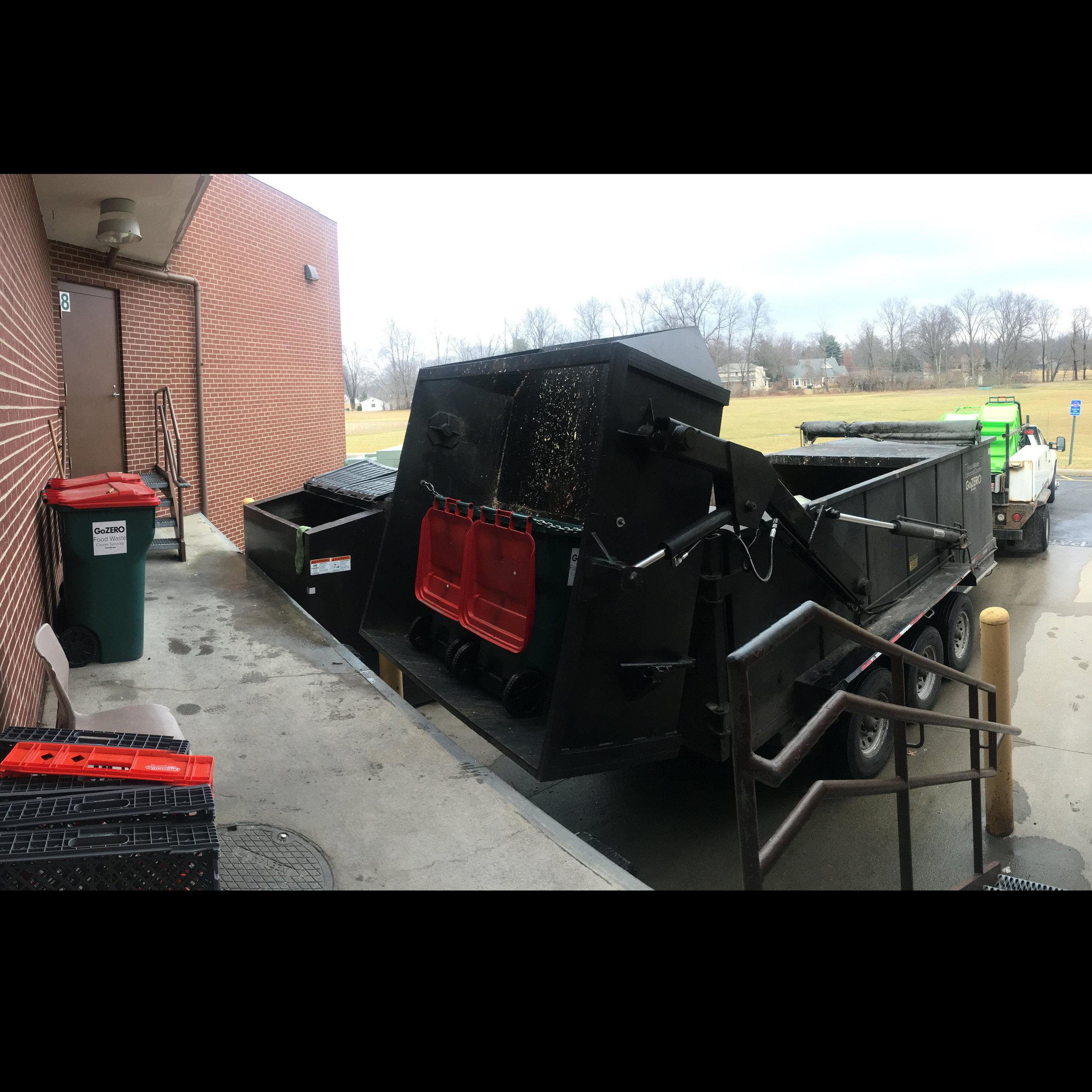loading food waste at loading dock.JPG