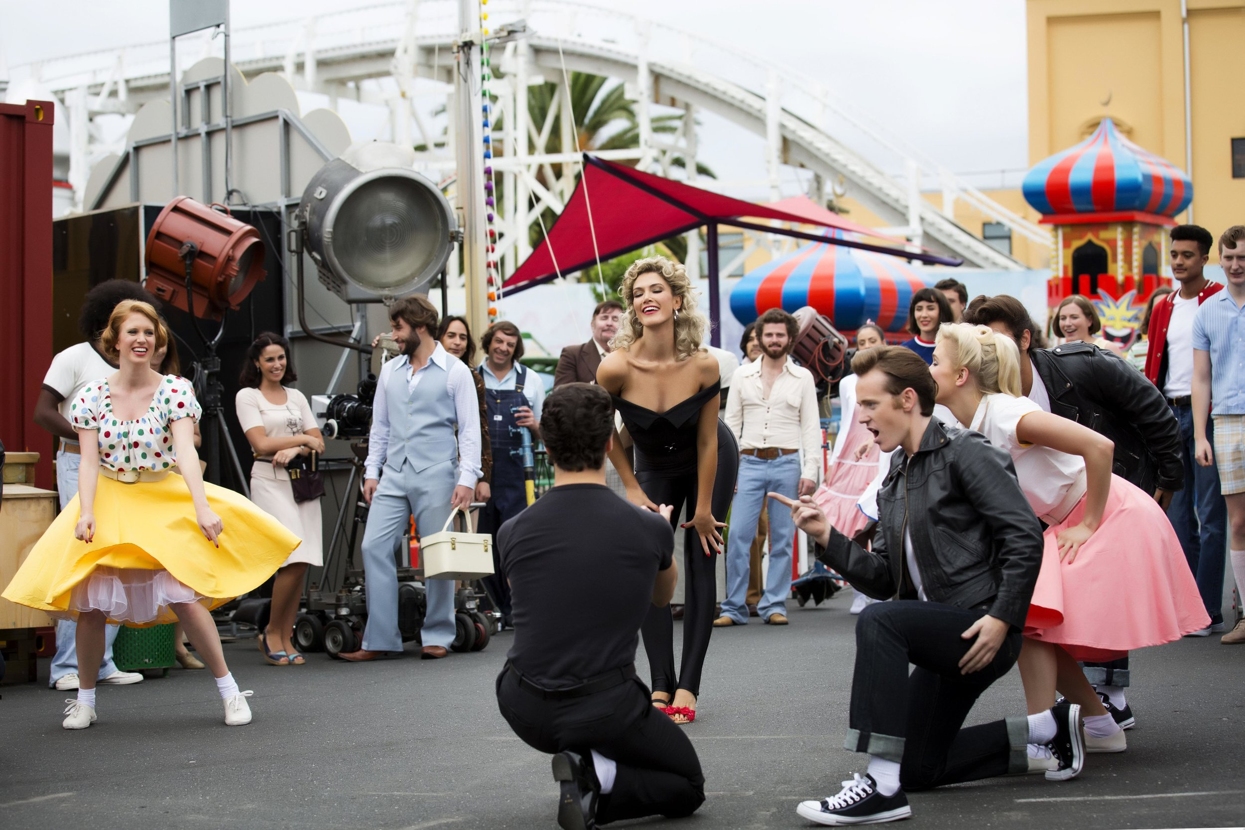 Part 1 - ONJ - Olivia (Delta Goodrem) on the set of Grease (Photo-FMA_ta....jpg