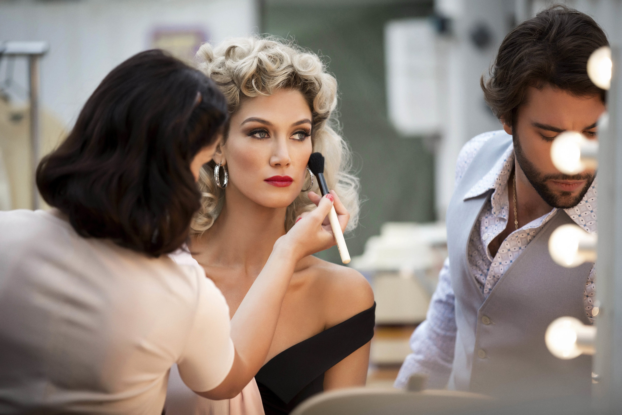 Part 1 - ONJ - Olivia (Delta Goodrem) on the set of Grease (Photo-FMAtaken by Kelly Gardner) 8.jpg