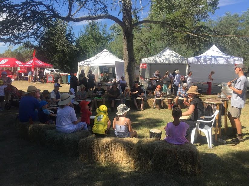 Taradale Mineral Springs Drumming.JPG