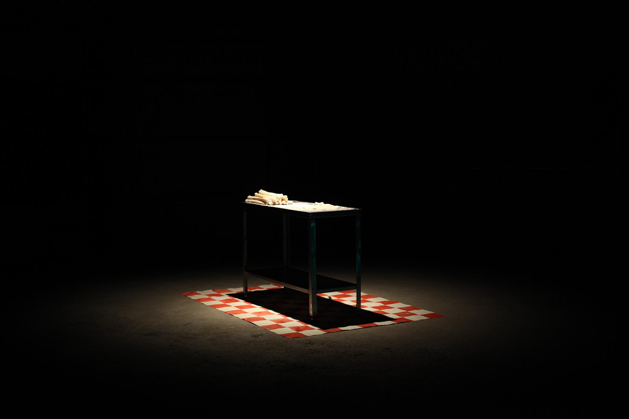 Toprak Bakery 2017  250cm x 195cm x 300cm  desk,canvas,acryle clay,silicon