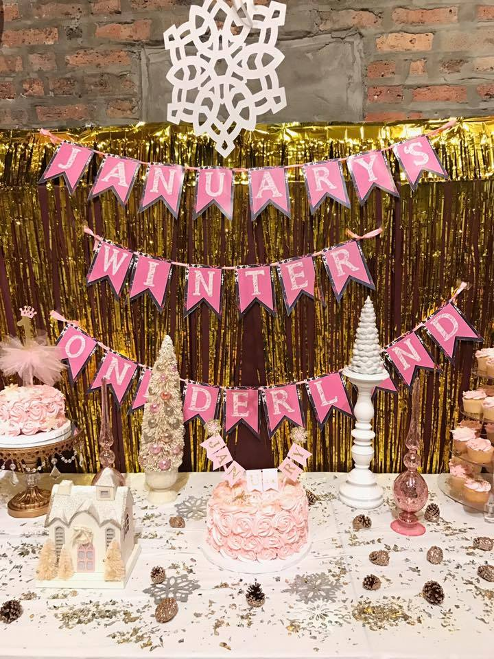 January's Winter Onederland First Birthday Party