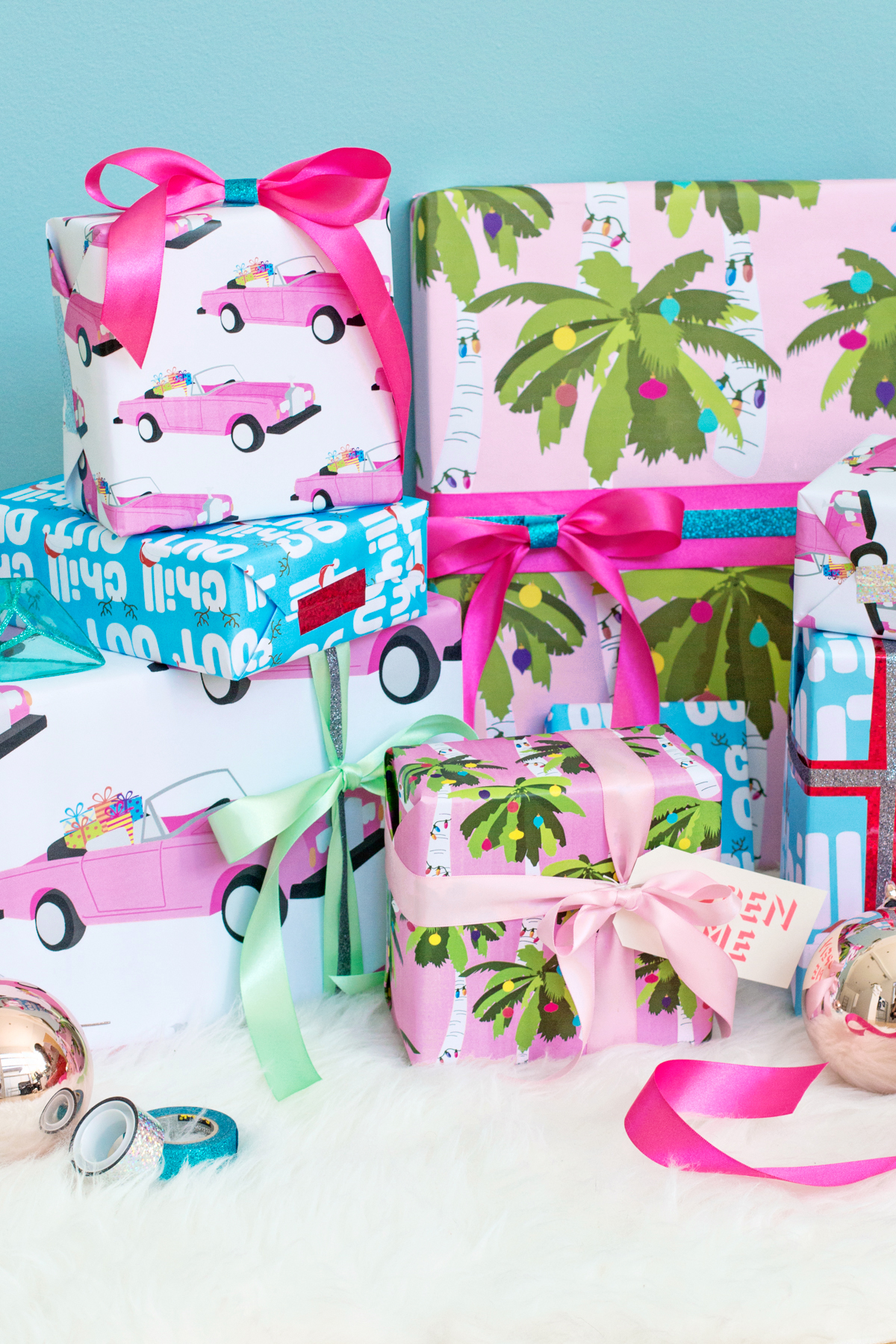 Tropical Holiday Gift Wrap