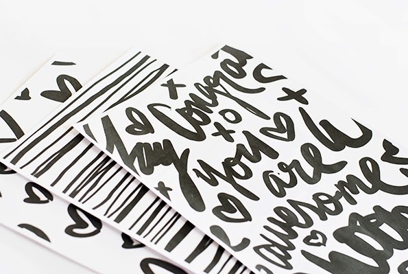 Hand Lettered Gift Wrap