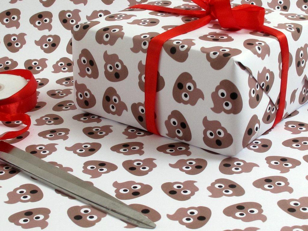Poop Emoji Gift Wrap