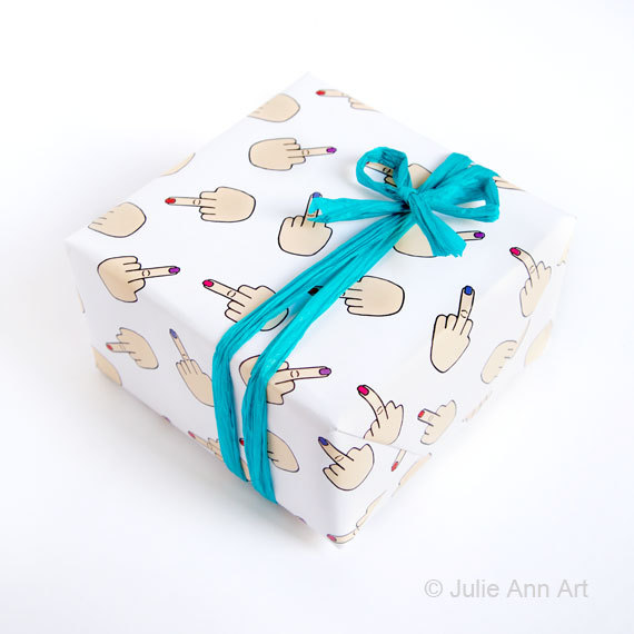 Middle Finger Gift Wrap