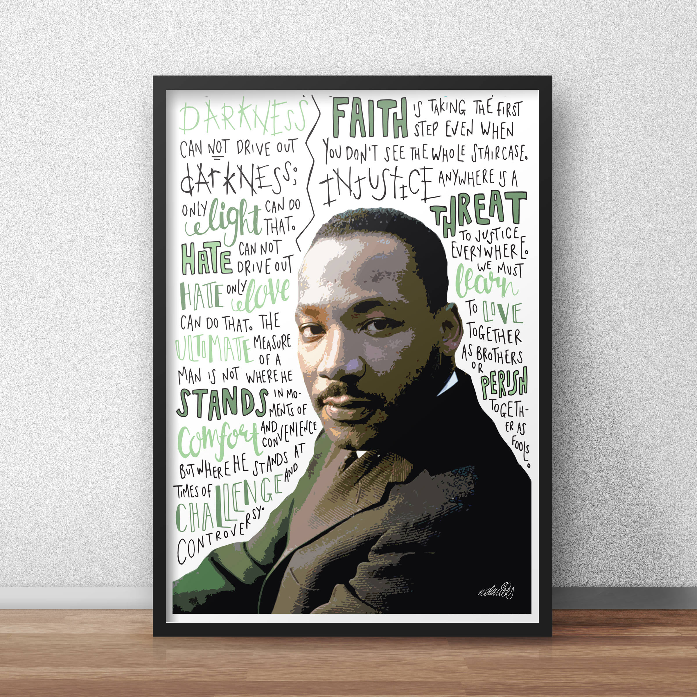 Dr. King Illustration Print